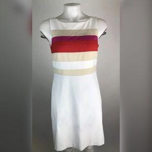 WHBM Color Block Sheath Dress